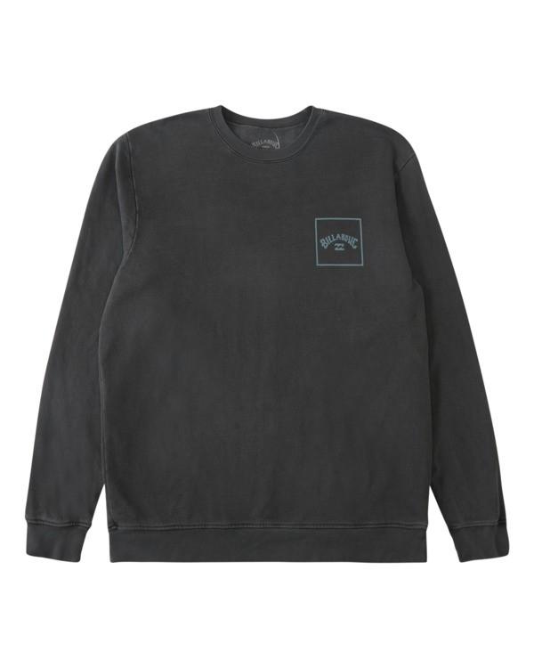 0 Stacked Wave Washed Crew Neck Sweatshirt Black ABYFT00198 Billabong
