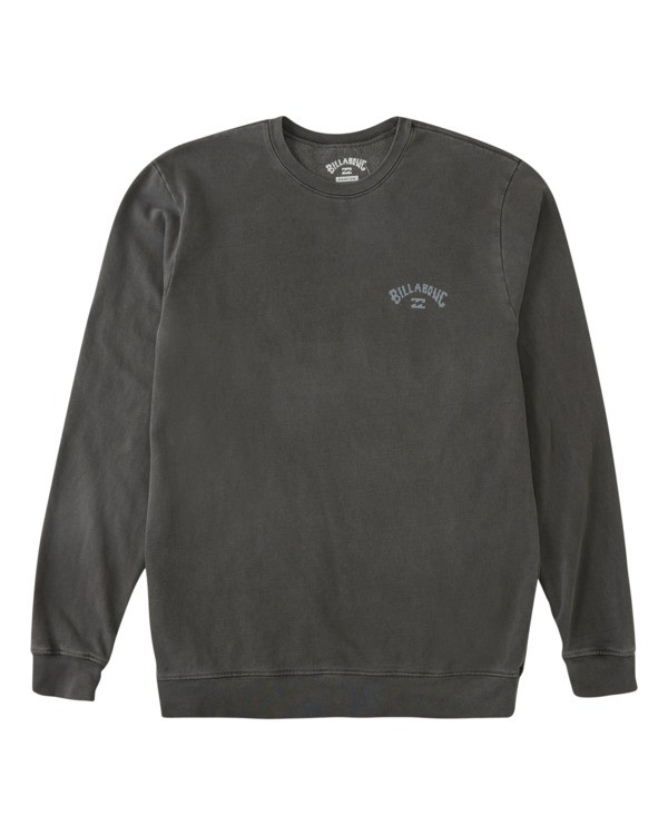 0 Arch Wave Washed Crew Neck Sweatshirt Black ABYFT00199 Billabong