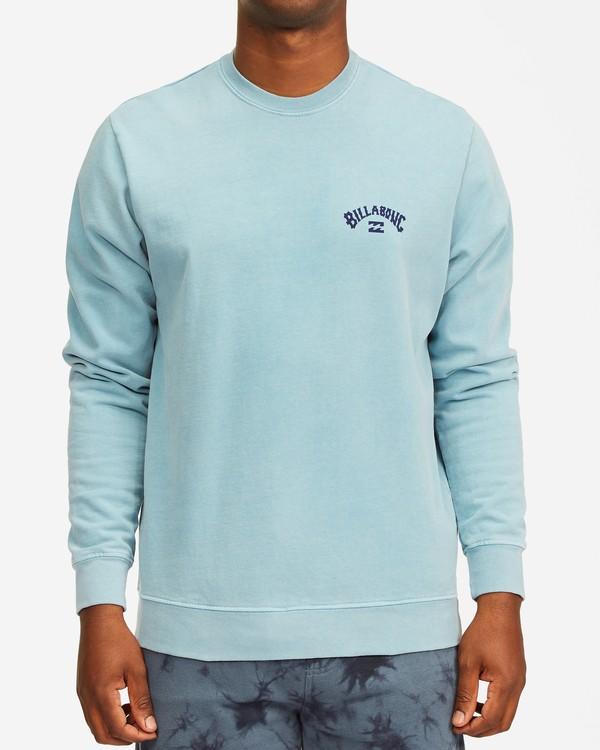 0 Arch Wave Washed Crew Neck Sweatshirt Purple ABYFT00199 Billabong