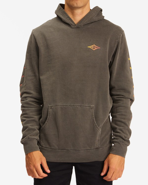 0 Wave Washed Unity Pullover Hoodie Black ABYFT00237 Billabong