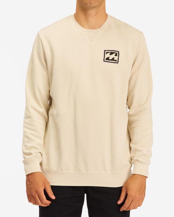 0 Wave Washed Crayon Wave Crewneck Pullover Sweater Black ABYFT00239 Billabong