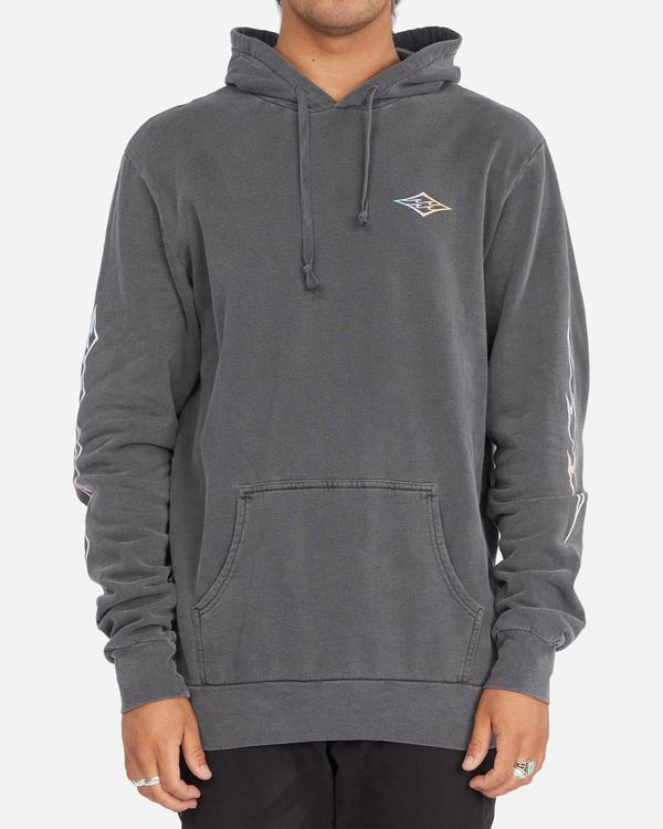 0 D Bah Wave Washed Pullover Hoodie Grey ABYFT00304 Billabong