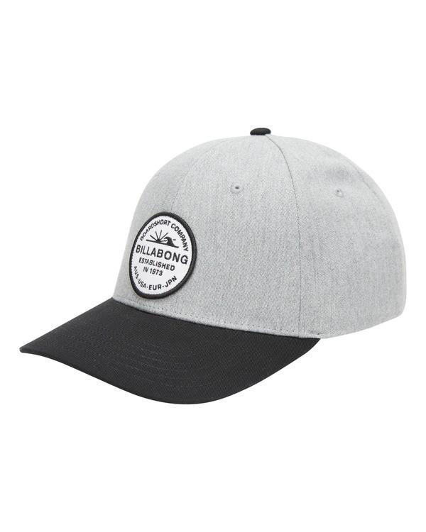 0 Walled Snapback Hat Grey ABYHA00120 Billabong