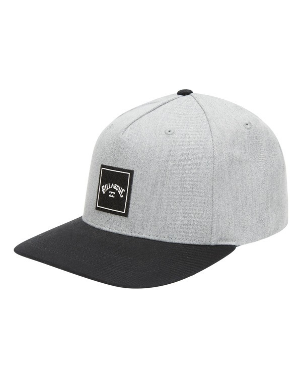 0 Stacked Snapback Hat Grey ABYHA00152 Billabong