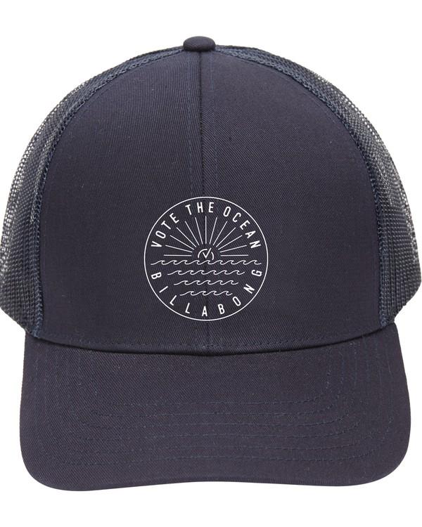 0 Vote the Ocean Trucker Hat Blue ABYHA00163 Billabong