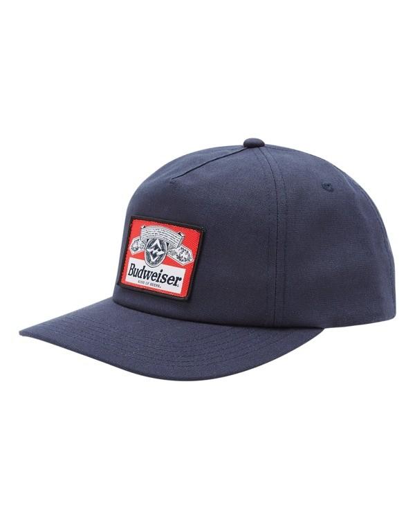0 Budweiser Insignia Snapback Hat Blue ABYHA00233 Billabong