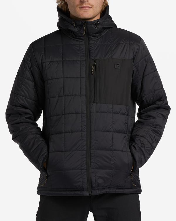 0 A/Div Journey Hooded Zip-Up Puffer Jacket Black ABYJK00116 Billabong