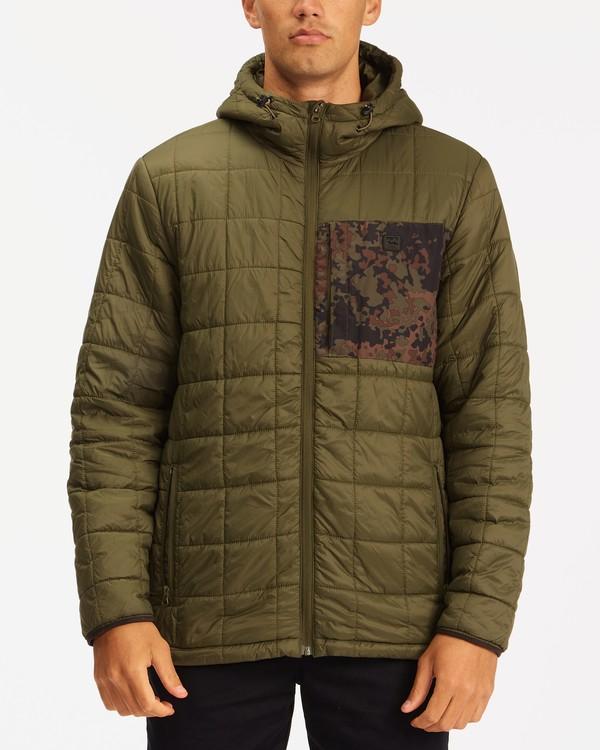 0 A/Div Journey Hooded Zip-Up Puffer Jacket Brown ABYJK00116 Billabong