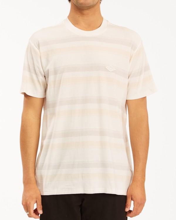 0 Die Cut Crew Neck T-Shirt White ABYKT00118 Billabong