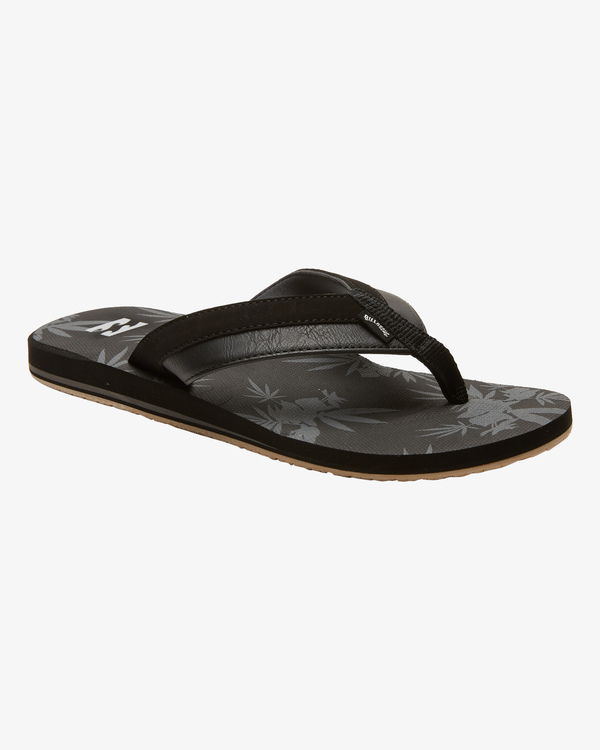 0 All Day Impact Print Slip-On Sandals Black ABYL100002 Billabong