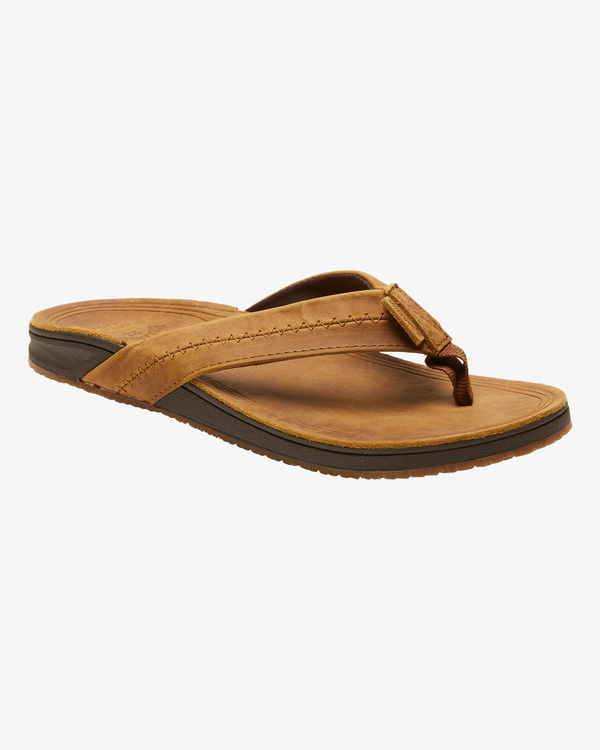 0 BRUNSWICK LEATHER THONG Brown ABYL100008 Billabong