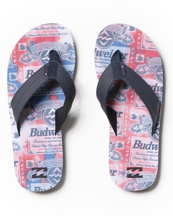 0 Budweiser Suds All Day Impact Sandal Red ABYL100019 Billabong