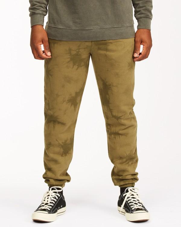 0 Wave Washed Tie-Dye Sweatpants Green ABYNP00117 Billabong