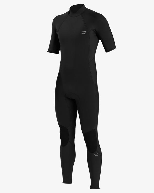 0 2/2 Absolute Back Zip Short Sleeve Flatlock Full Wetsuit Black ABYW300101 Billabong