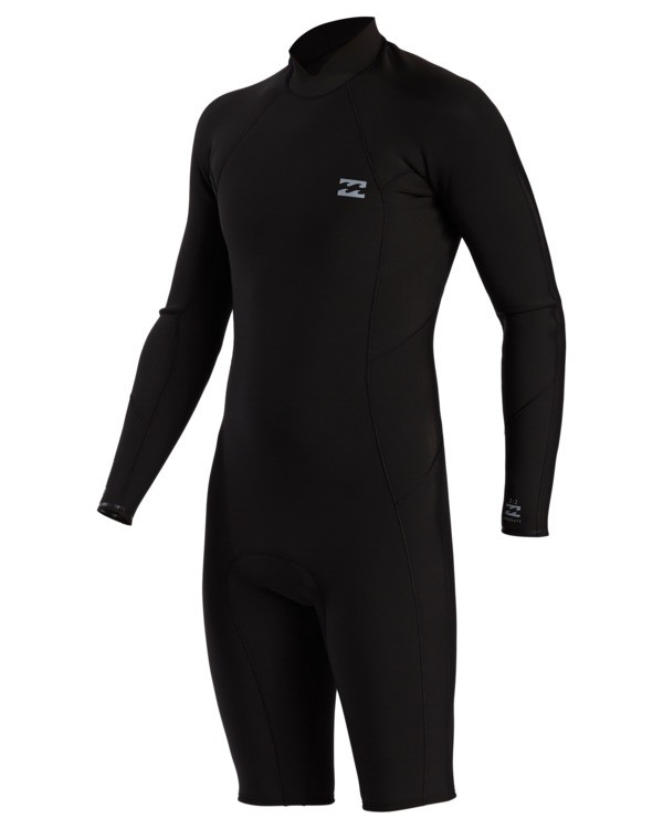 0 2/2 Absolute Comp Back Zip Long Sleeve Spring Wetsuit Black ABYW400104 Billabong