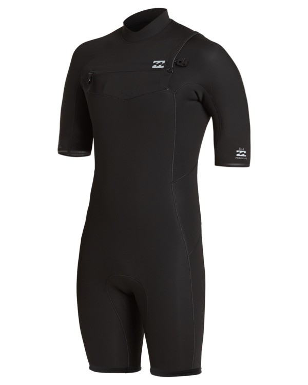 0 2/2 Absolute Chest Zip Spring Wetsuit Black ABYW500100 Billabong