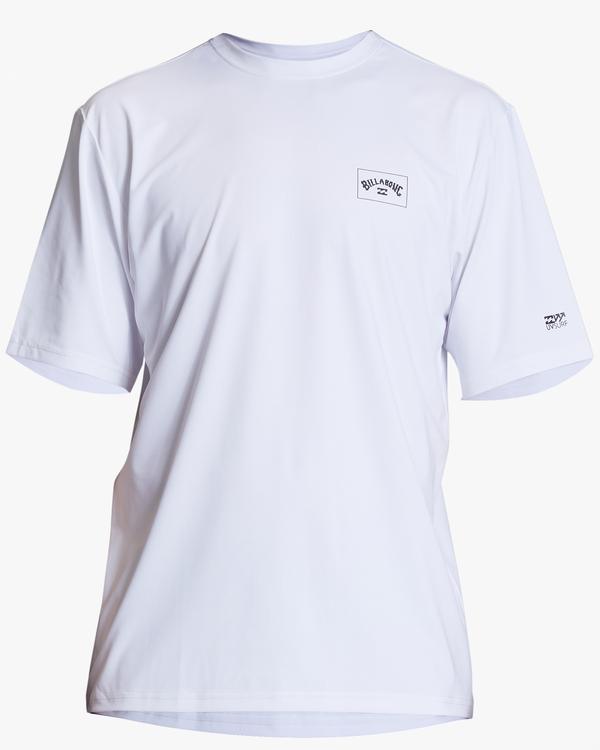 0 Arch Mesh Short Sleeve Rashguard White ABYWR00100 Billabong