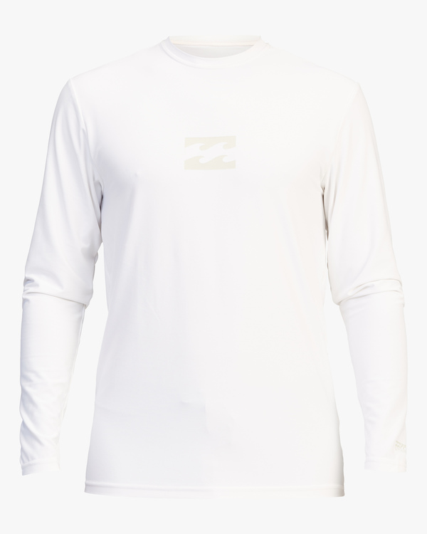 0 All Day Wave Loose Fit Long Sleeve Rashguard White ABYWR00109 Billabong