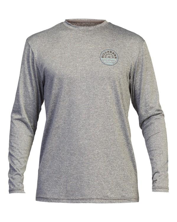 0 Roto Loose Fit Long Sleeve Rashguard Grey ABYWR00111 Billabong