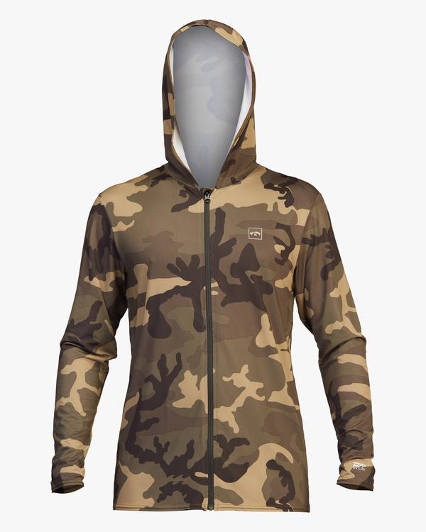 0 Stacked Loose Fit Hooded Zip-Up Long Sleeve Rashguard Black ABYWR00113 Billabong