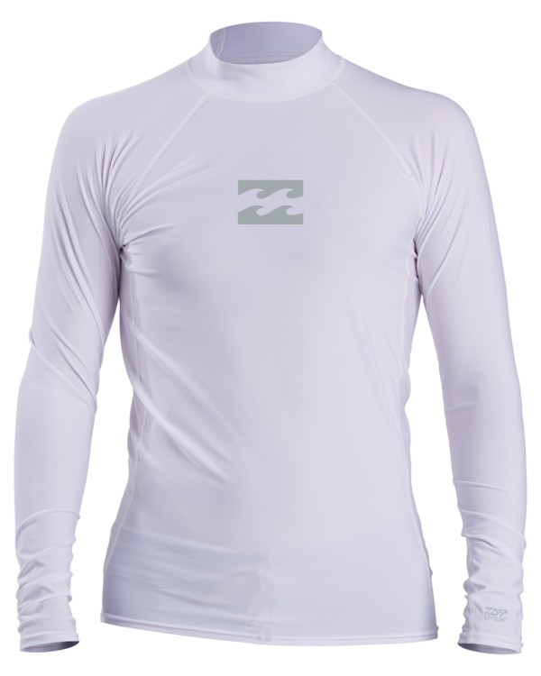 0 All Day Wave Performance Fit Long Sleeve Rashguard White ABYWR00117 Billabong