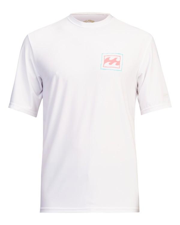 0 Crayon Wave Loose Fit Short Sleeve Rashguard White ABYWR00122 Billabong