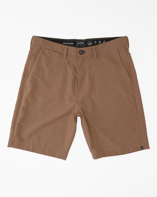 """0 A/Div Surftrek Wick Shorts 20"""" Brown ABYWS00148 Billabong"""