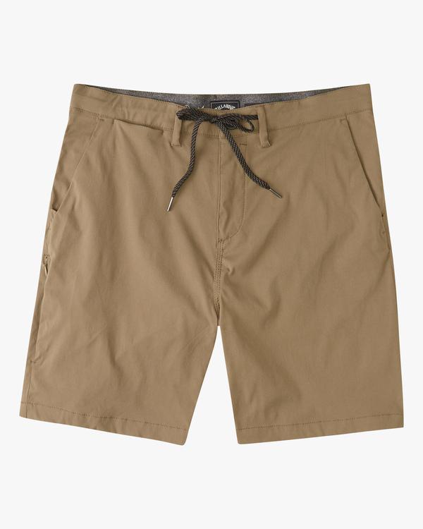 """0 A/Div Surftrek Wick Shorts 19"""" Brown ABYWS00150 Billabong"""