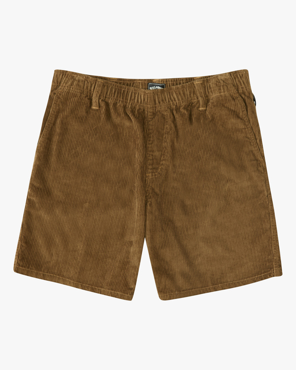 0 Wrangler Bowie Layback Cord Shorts Brown ABYWS00151 Billabong