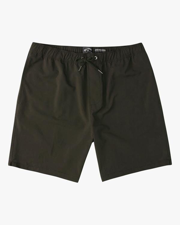 """0 A/Div Surftrek Elastic Waist Shorts 17"""" Brown ABYWS00155 Billabong"""