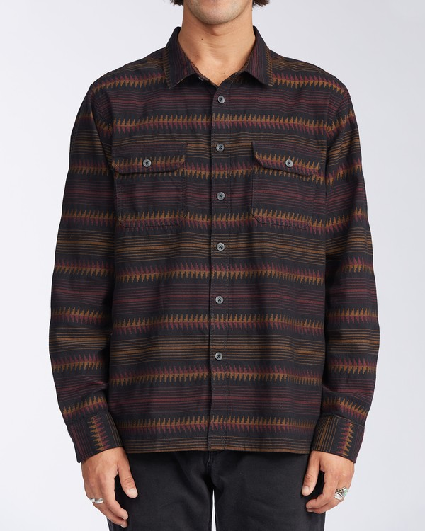 0 Offshore Long Sleeve Flannel Shirt Black ABYWT00104 Billabong