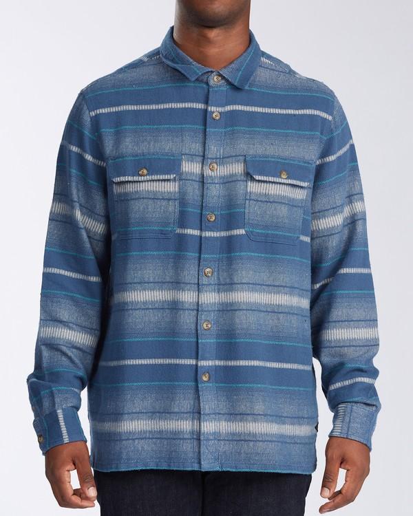 0 Offshore Long Sleeve Flannel Shirt Blue ABYWT00104 Billabong