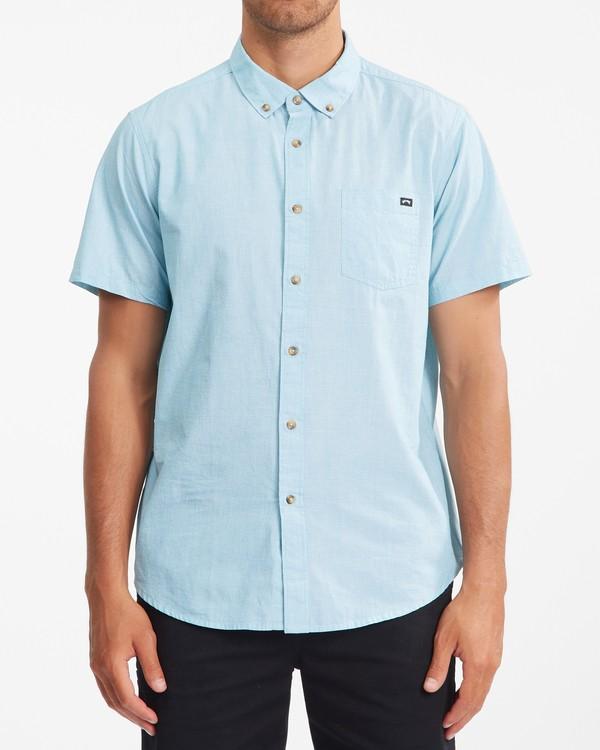 0 All Day Short Sleeve Shirt Blue ABYWT00110 Billabong