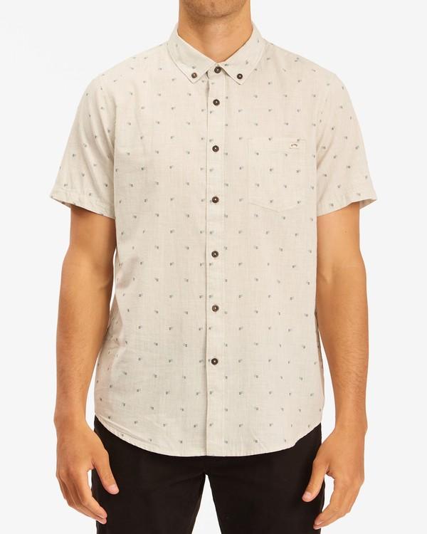0 All Day Jacquard Shirt Beige ABYWT00111 Billabong