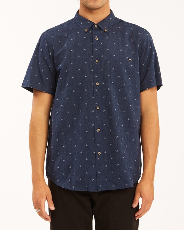 0 All Day Jacquard Shirt Blue ABYWT00111 Billabong