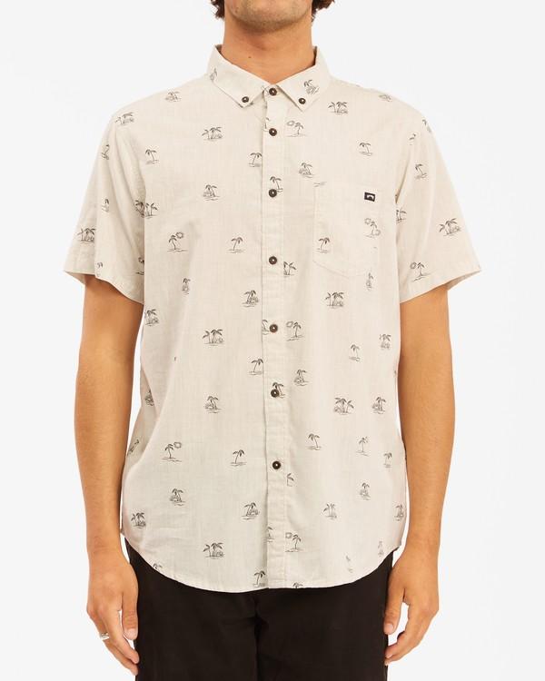 0 Sundays Mini Short Sleeve Shirt Beige ABYWT00112 Billabong