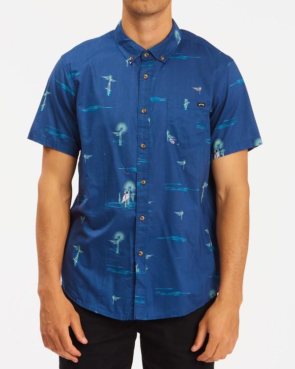 0 Sundays Mini Short Sleeve Shirt Brown ABYWT00112 Billabong