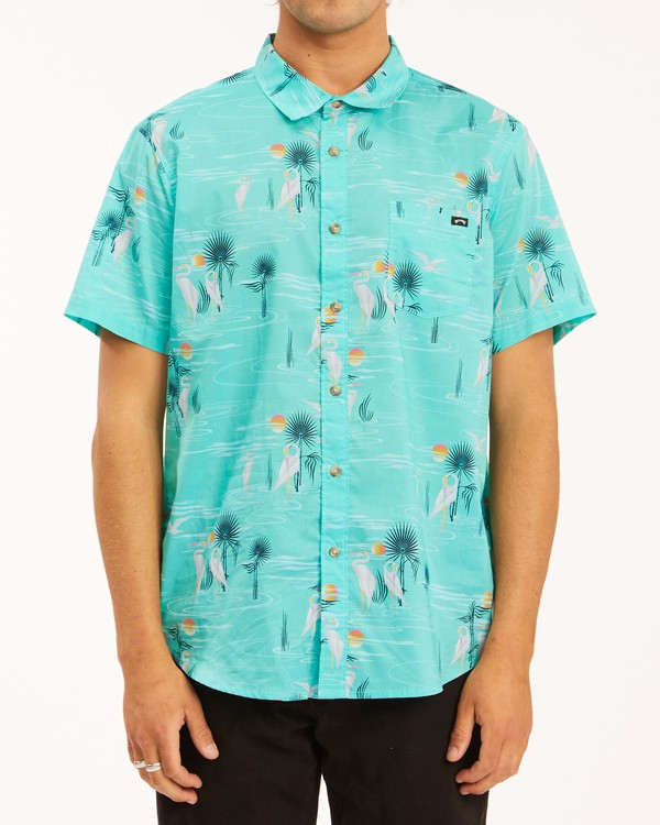 0 Sundays Floral Short Sleeve Shirt Grey ABYWT00113 Billabong
