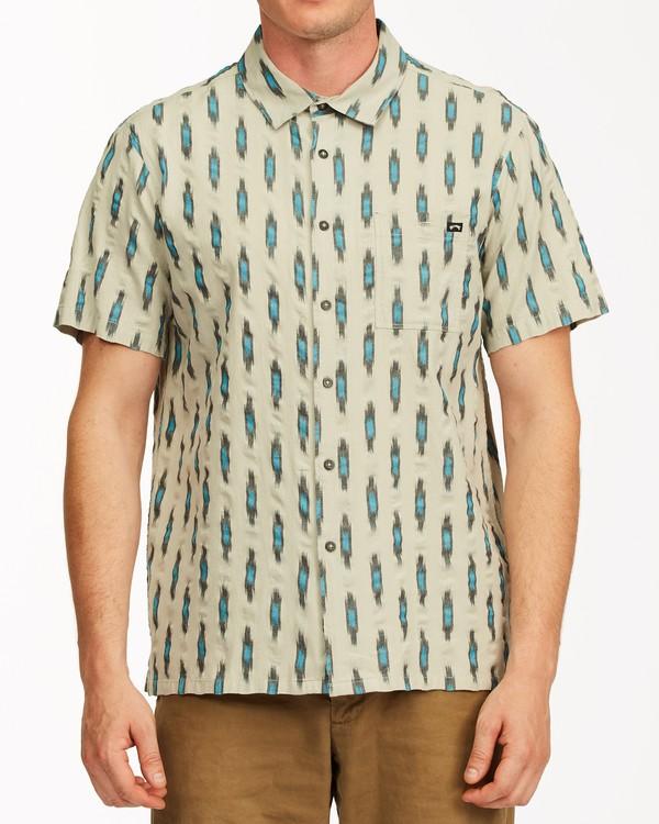 0 Sundays Jacquard Short Sleeve Shirt Grey ABYWT00114 Billabong