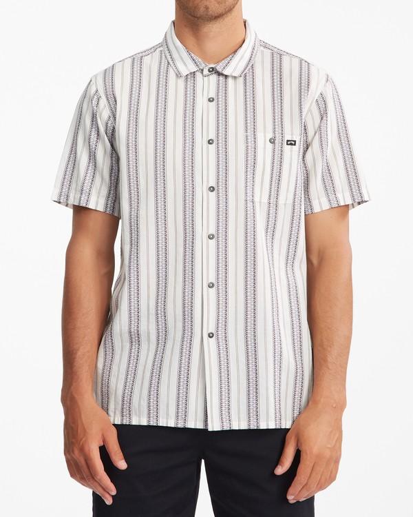 0 Sundays Jacquard Short Sleeve Shirt Beige ABYWT00114 Billabong
