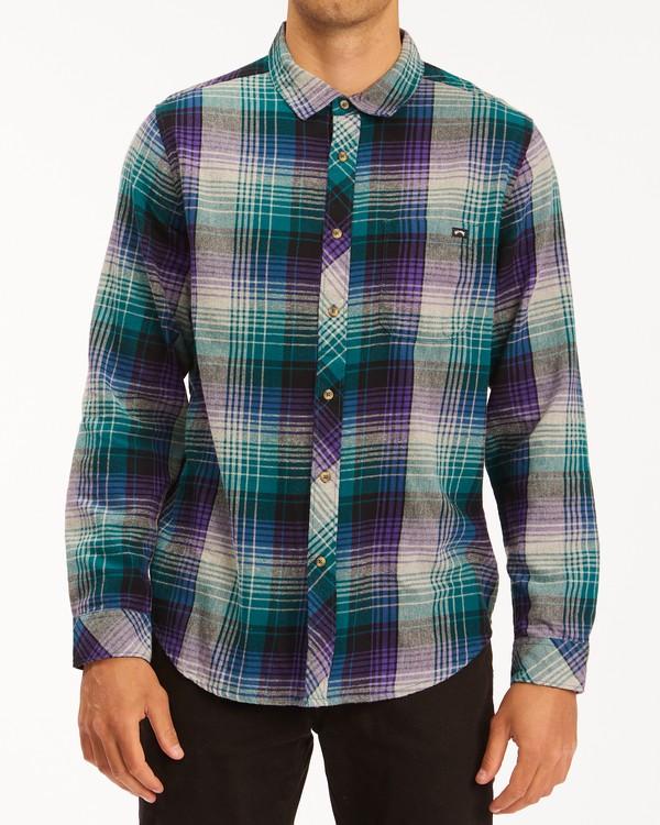 0 Coastline Flannel Shirt Orange ABYWT00116 Billabong