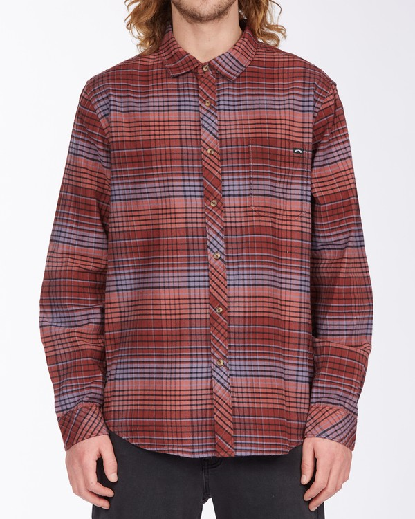 0 Coastline Flannel Shirt Green ABYWT00116 Billabong