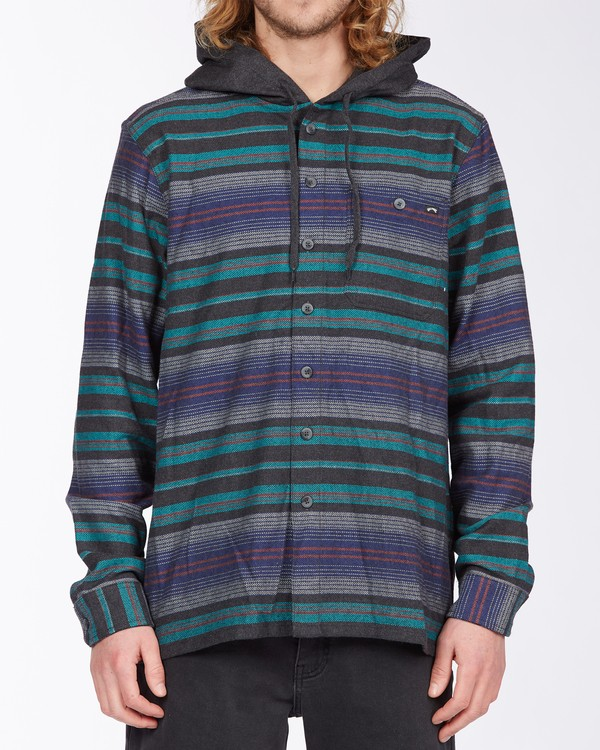 0 Baja Hooded Flannel Black ABYWT00117 Billabong