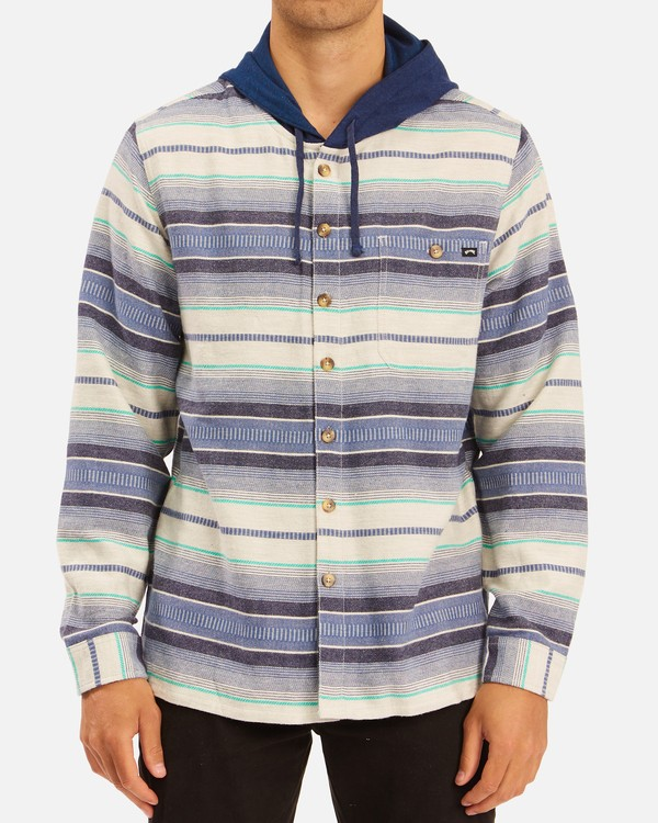 0 Baja Hooded Flannel Beige ABYWT00117 Billabong