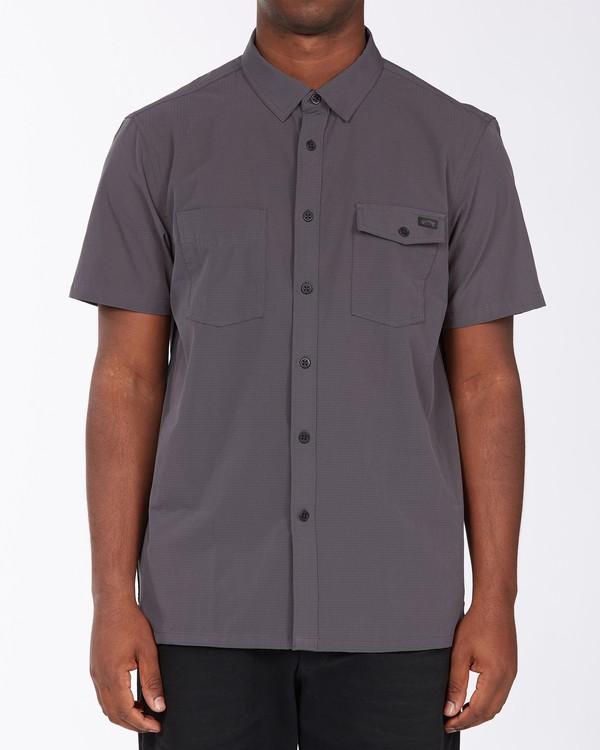 0 A/Div Surftrek Short Sleeve Shirt Black ABYWT00121 Billabong