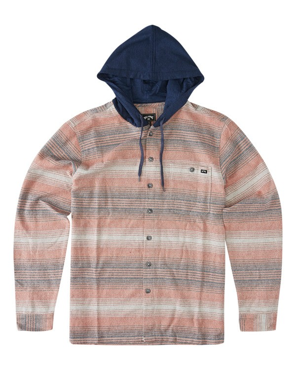 0 Baja Flannel Shirt Red ABYWT00127 Billabong