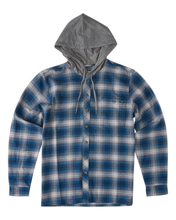 0 Baja Flannel Shirt Blue ABYWT00127 Billabong