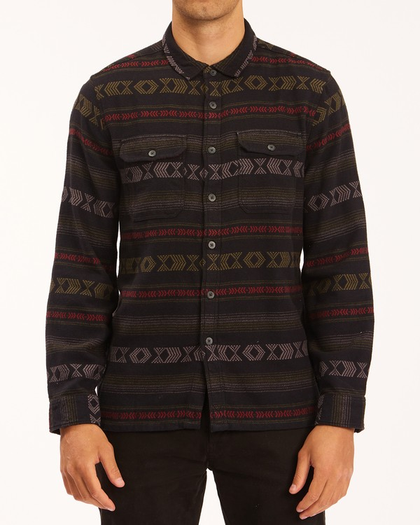 0 Offshore Jacquard Flannel Shirt Black ABYWT00135 Billabong