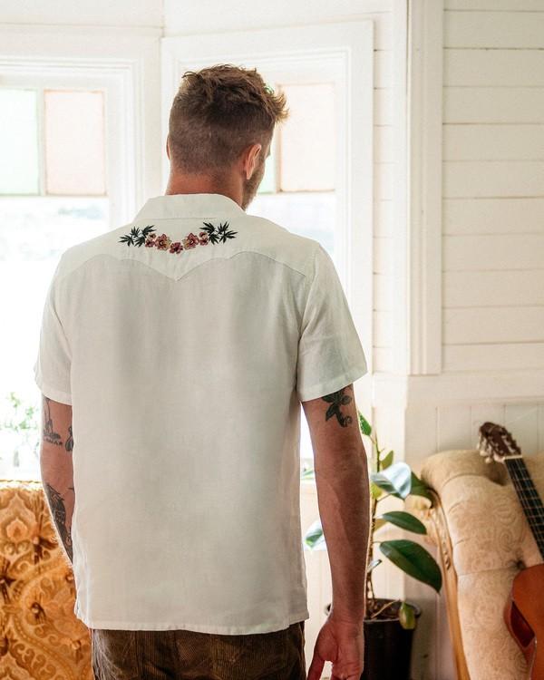0 Wrangler Dakota Hemp Vacay Short Sleeve Shirt White ABYWT00137 Billabong