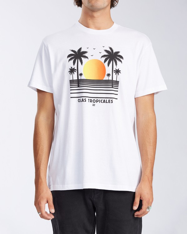0 Olas Short Sleeve T-Shirt White ABYZT00116 Billabong